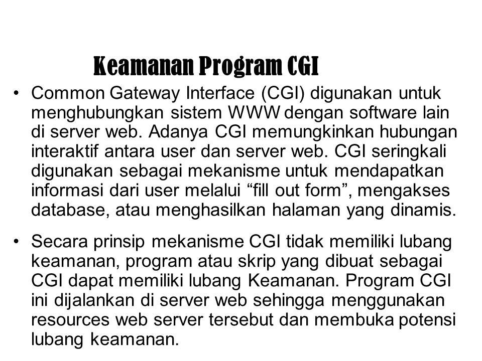 Keamanan Program CGI