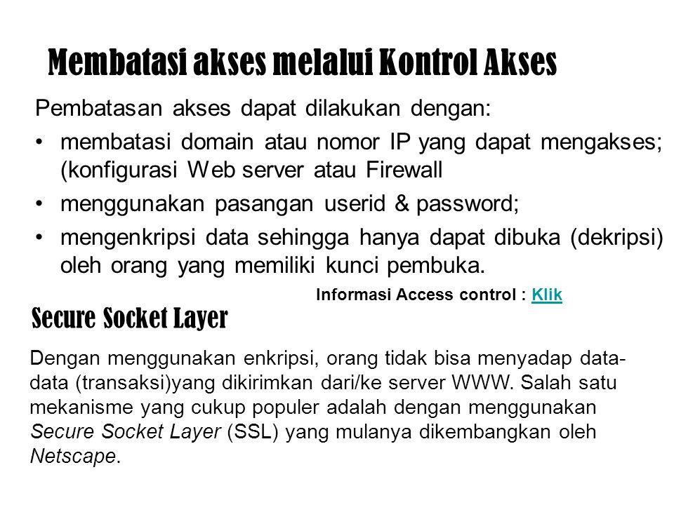 Membatasi akses melalui Kontrol Akses