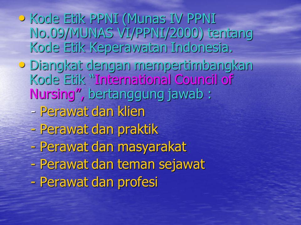 Kode Etik PPNI (Munas IV PPNI No
