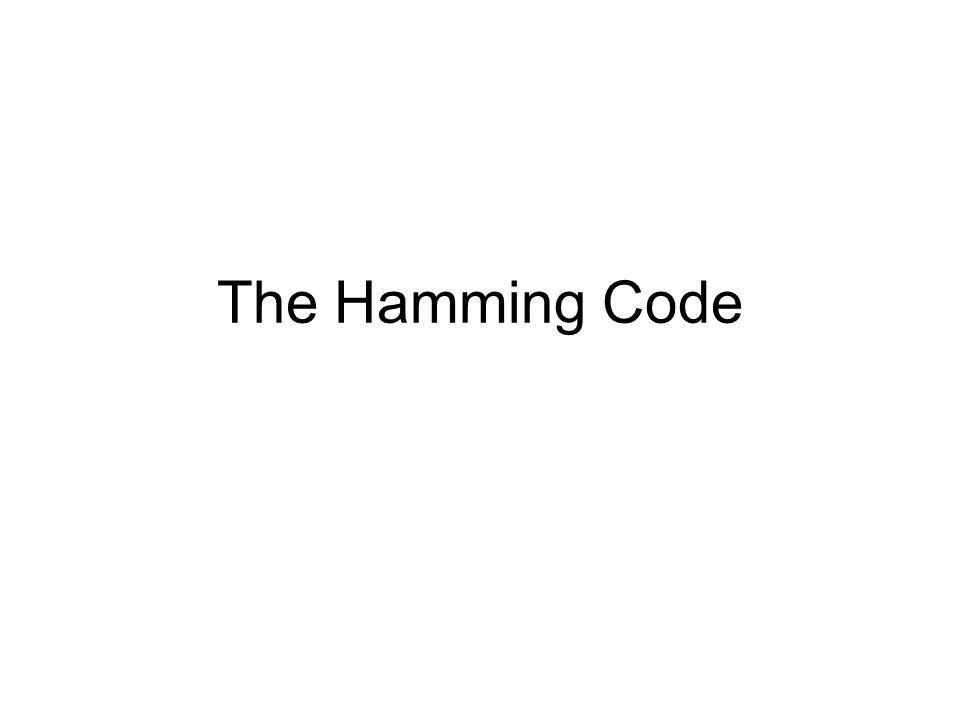 The Hamming Code
