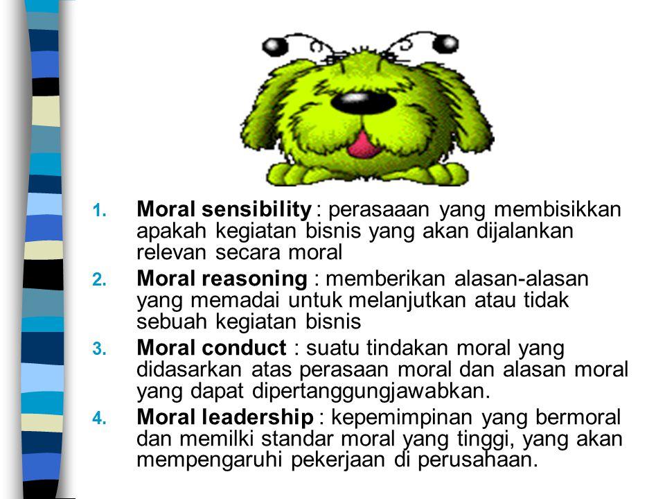 Moral sensibility : perasaaan yang membisikkan apakah kegiatan bisnis yang akan dijalankan relevan secara moral