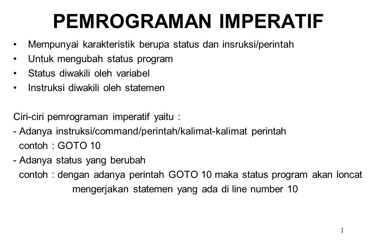 PEMROGRAMAN IMPERATIF