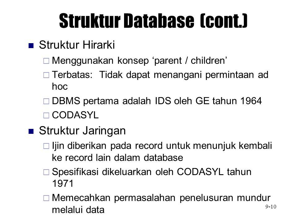 Struktur Database (cont.)