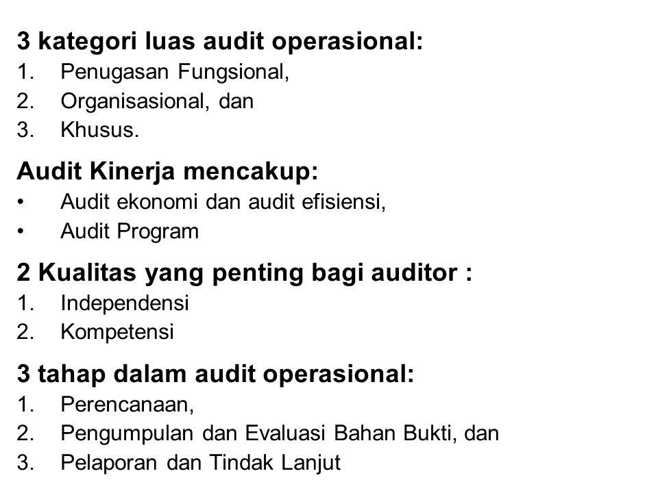 3 kategori luas audit operasional: