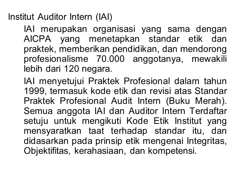 Institut Auditor Intern (IAI)