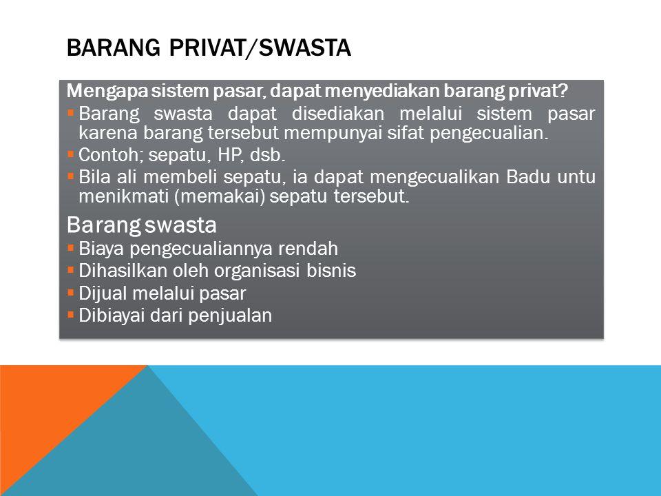 Barang Privat/swasta Barang swasta