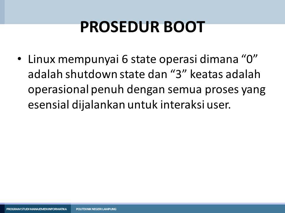 PROSEDUR BOOT