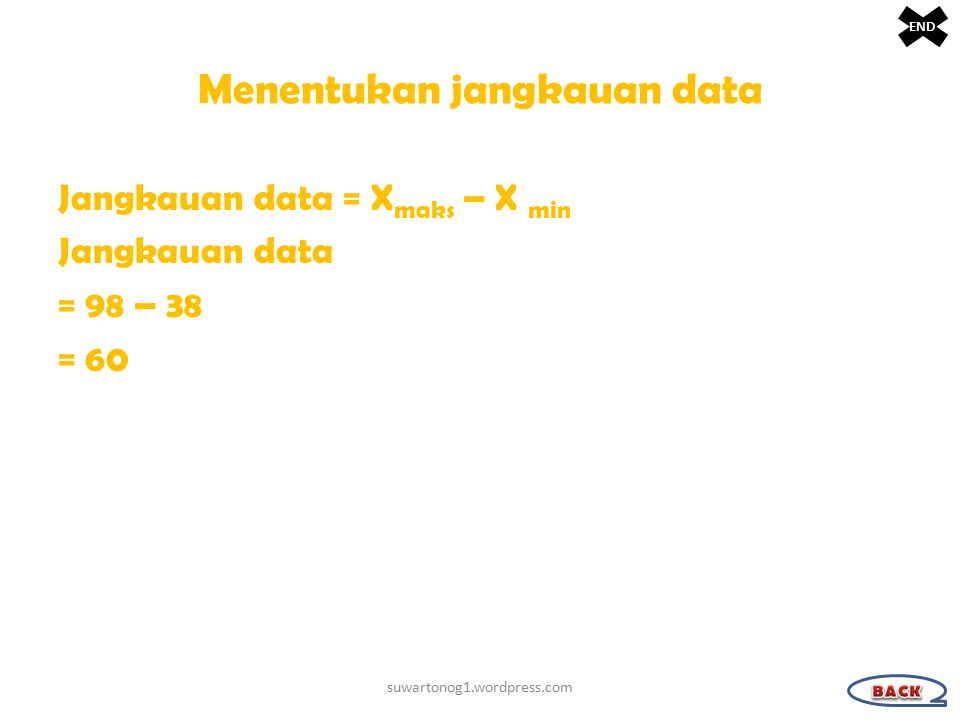 Menentukan jangkauan data