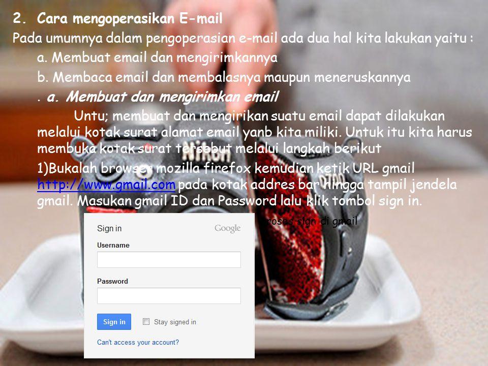 Cara mengoperasikan E-mail