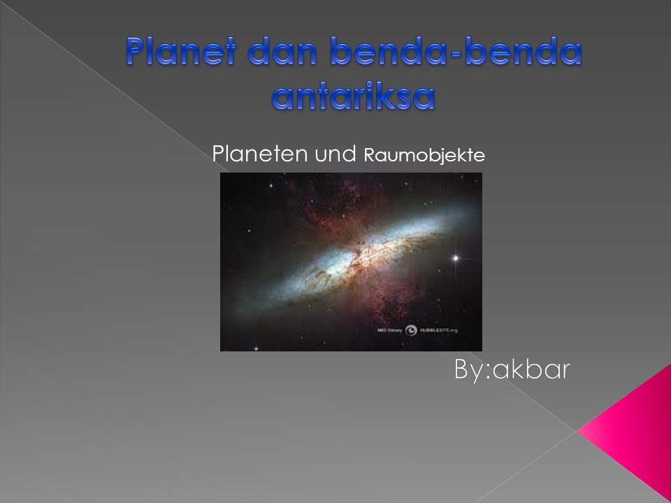 Planet dan benda-benda antariksa