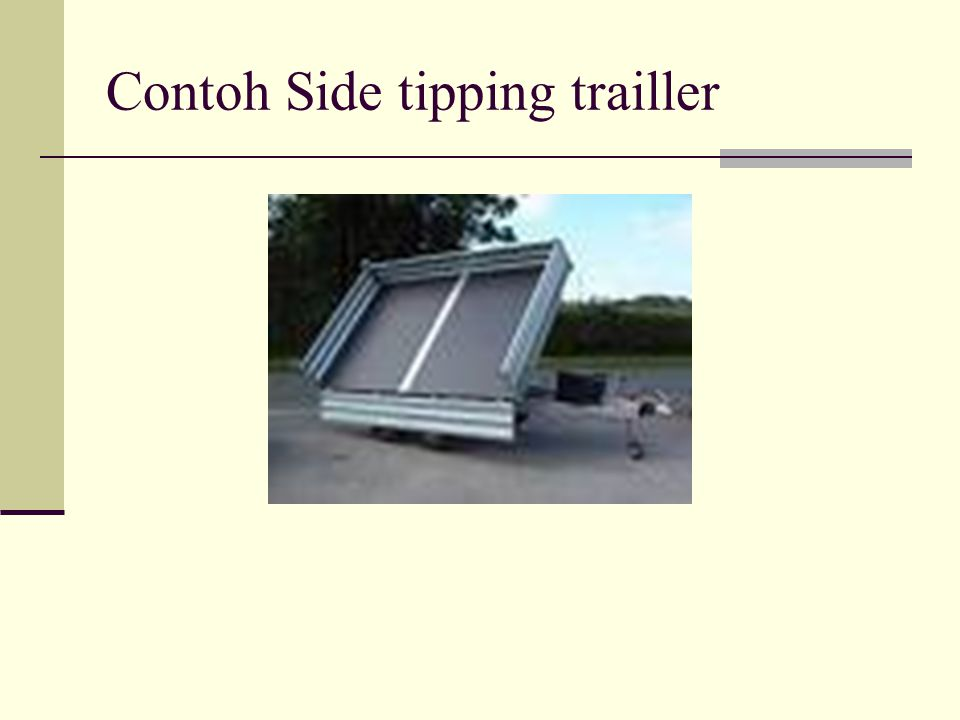 Contoh Side tipping trailler