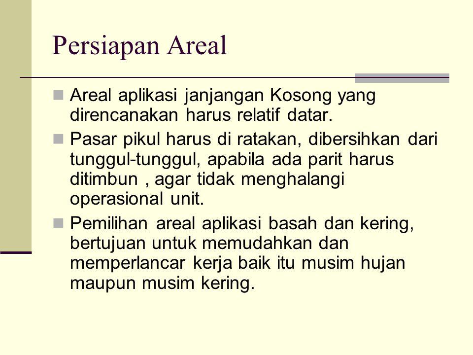 Persiapan Areal Areal aplikasi janjangan Kosong yang direncanakan harus relatif datar.
