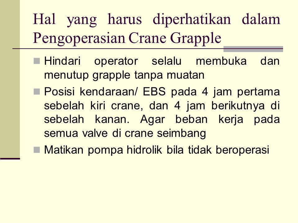 Hal yang harus diperhatikan dalam Pengoperasian Crane Grapple
