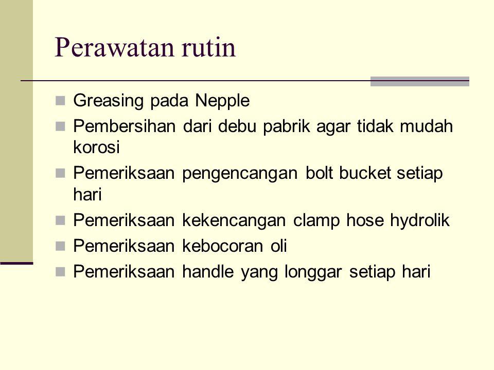 Perawatan rutin Greasing pada Nepple