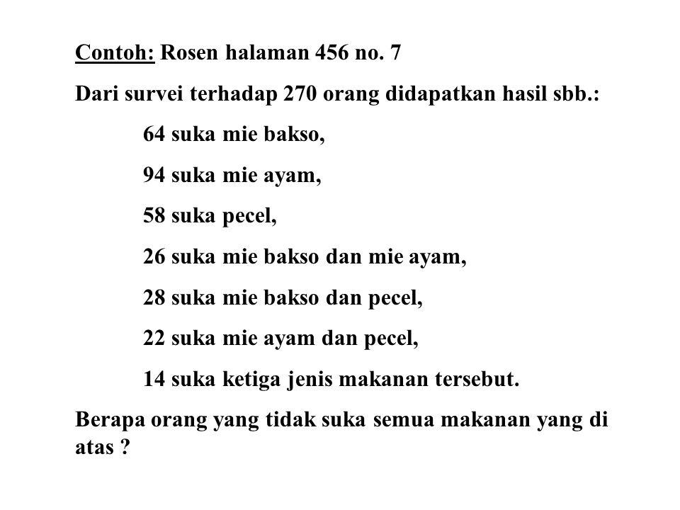 Contoh: Rosen halaman 456 no. 7