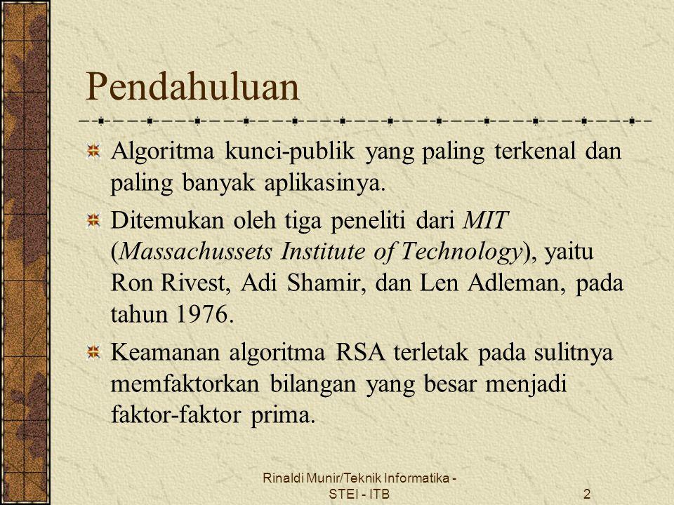 Rinaldi Munir/Teknik Informatika - STEI - ITB