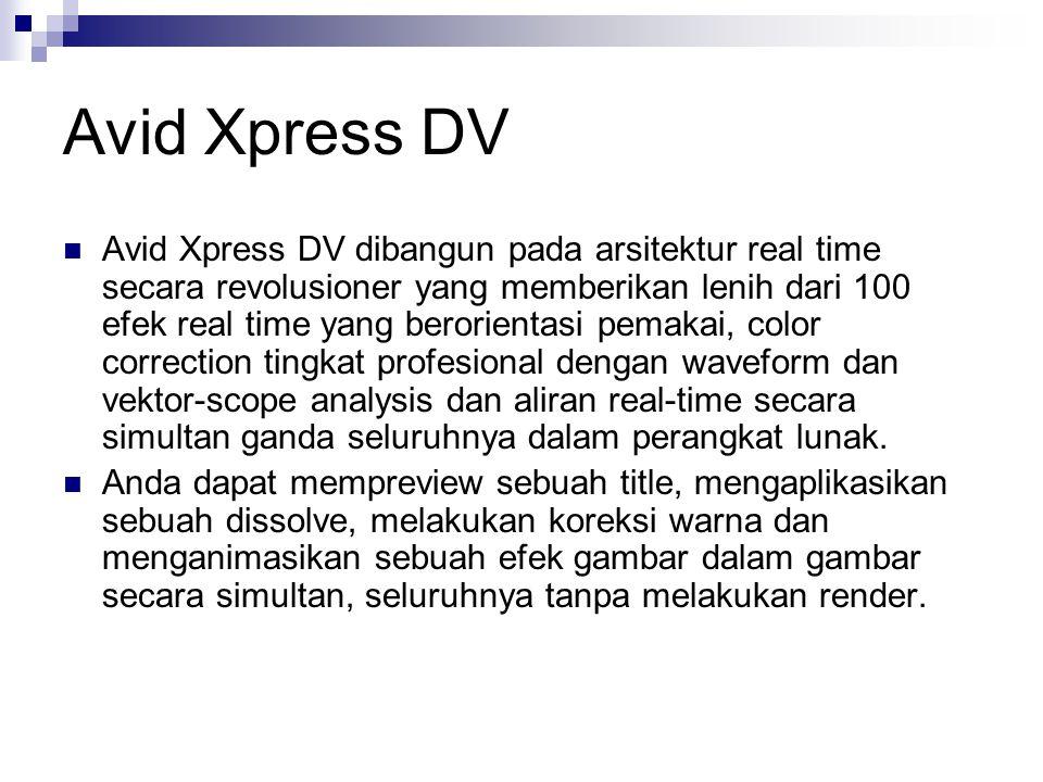 Avid Xpress DV