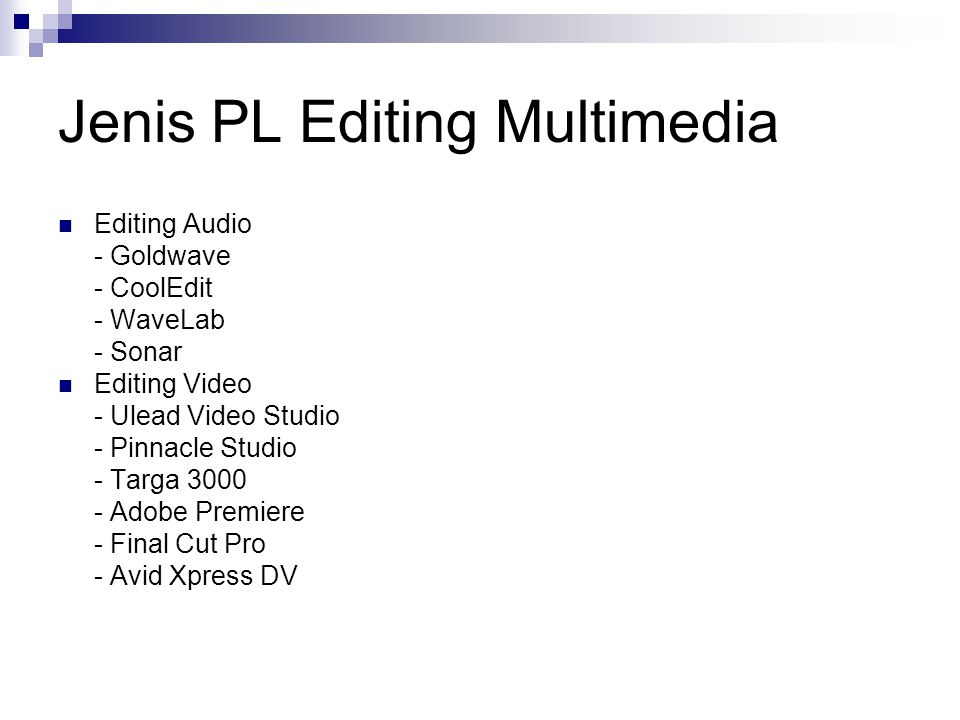 Jenis PL Editing Multimedia