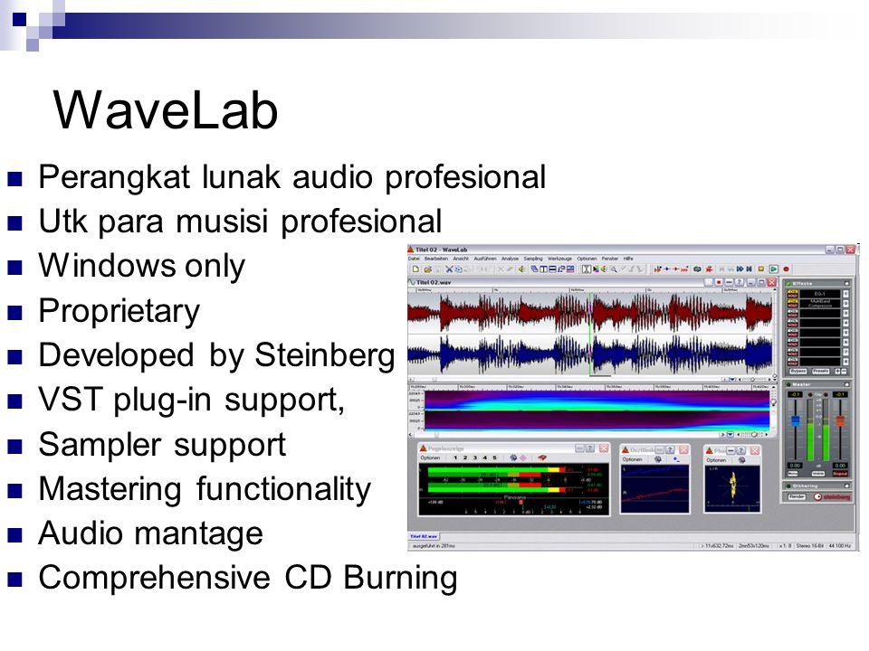 WaveLab Perangkat lunak audio profesional Utk para musisi profesional