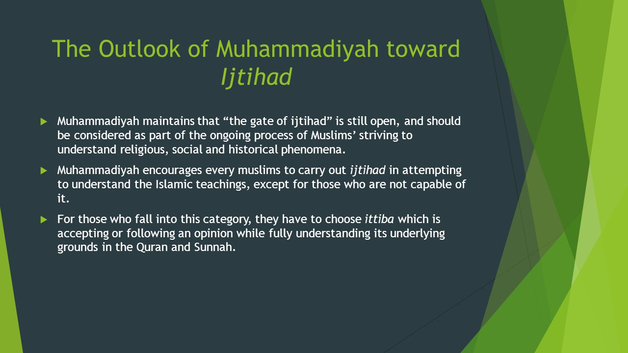 The Outlook of Muhammadiyah toward Ijtihad