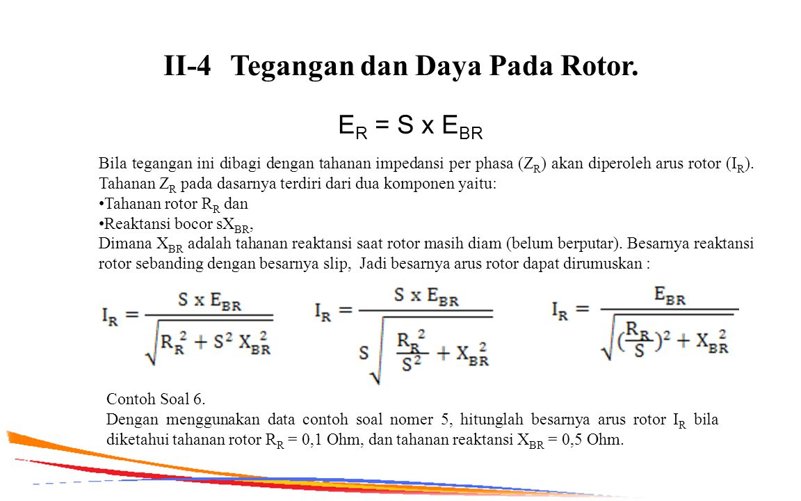 II-4 Tegangan dan Daya Pada Rotor.