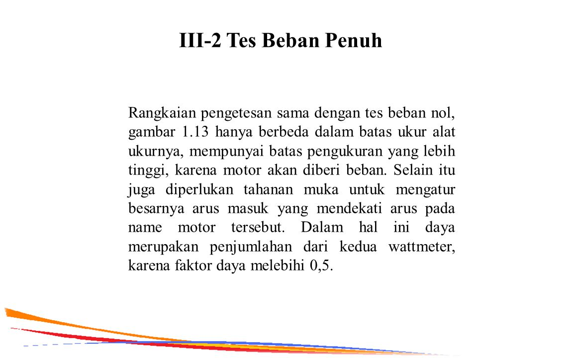 III-2 Tes Beban Penuh