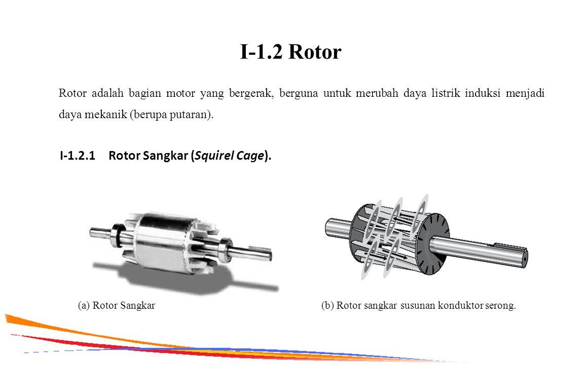 I-1.2 Rotor I-1.2.1 Rotor Sangkar (Squirel Cage).
