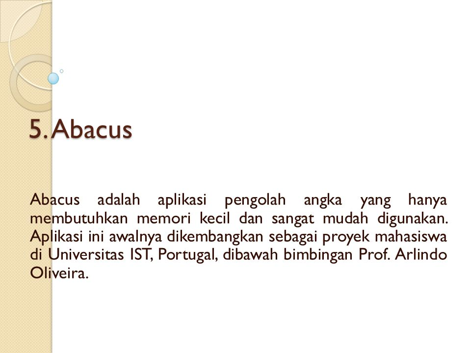5. Abacus