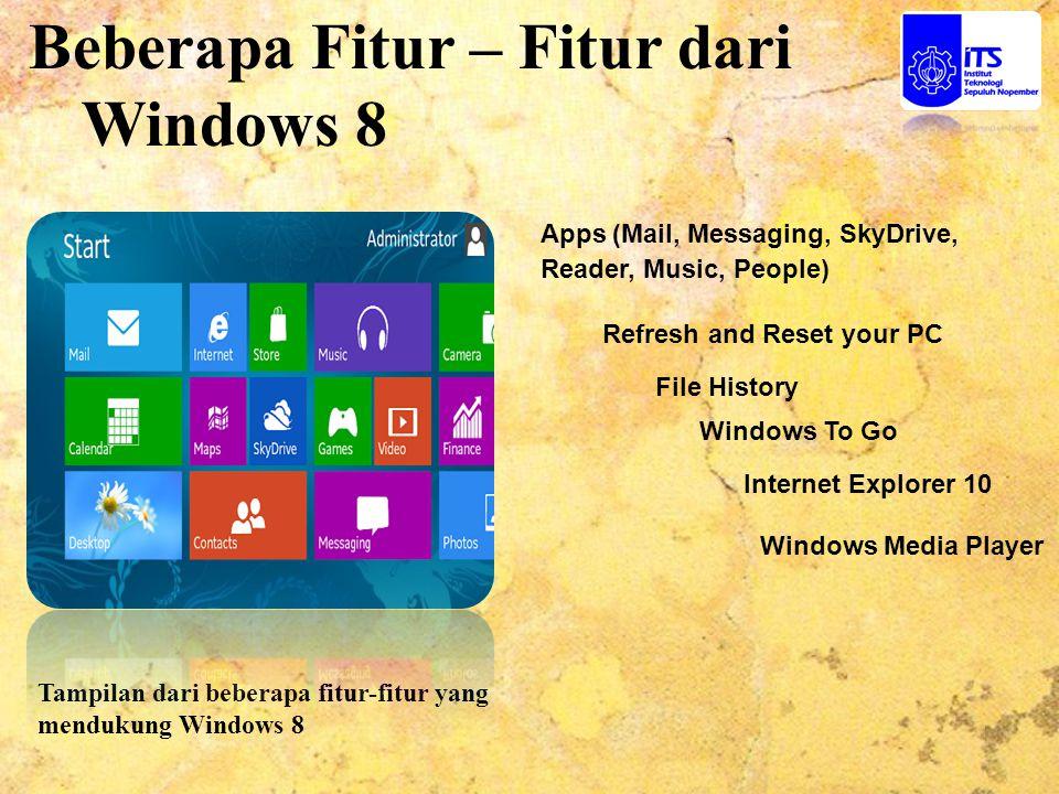 Beberapa Fitur – Fitur dari Windows 8