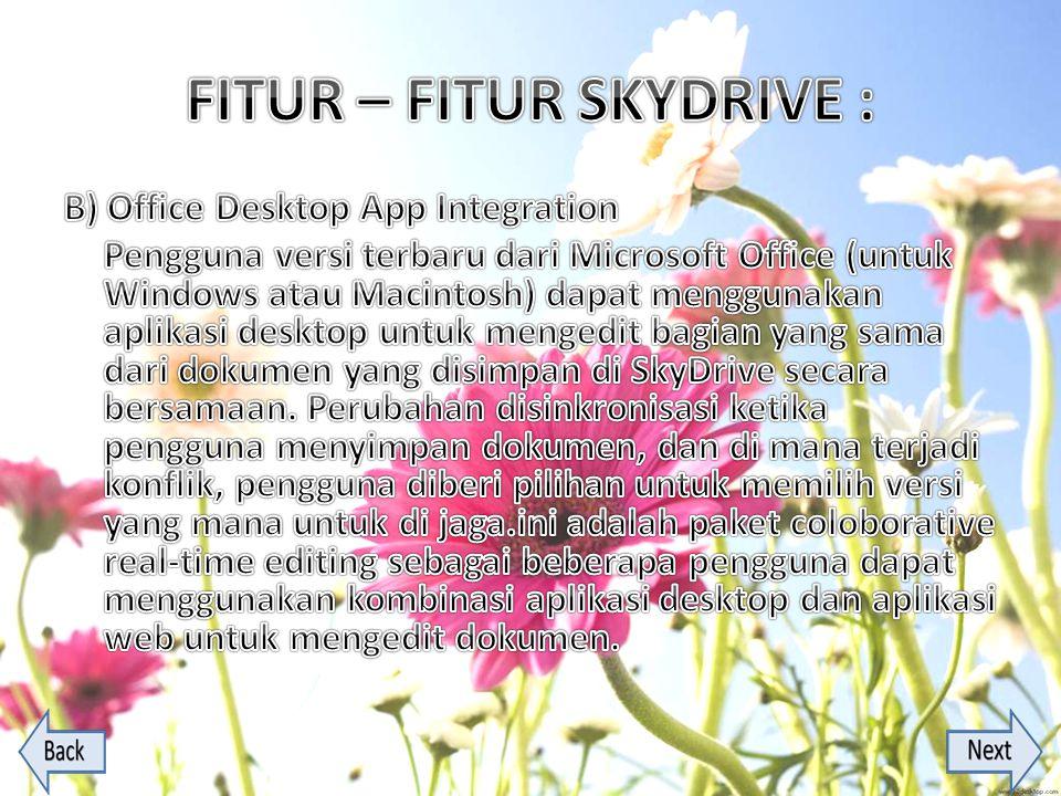 FITUR – FITUR SKYDRIVE :