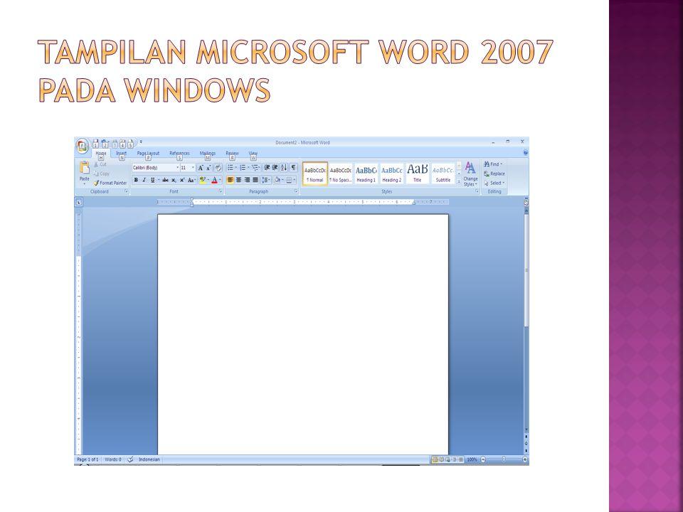 tampilan microsoft word 2007 pada windows