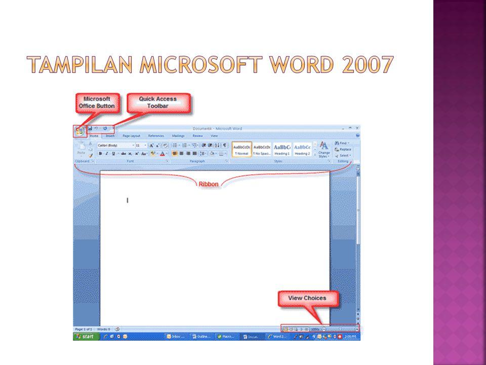Tampilan microsoft word 2007