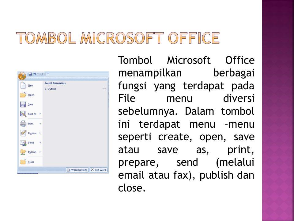 Tombol microsoft office