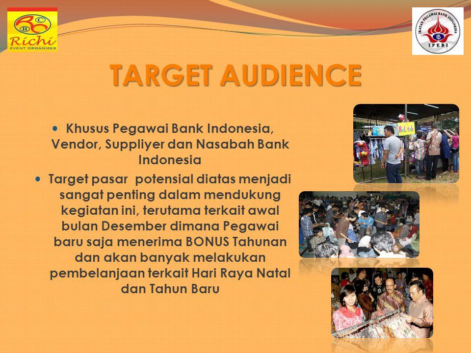 TARGET AUDIENCE Khusus Pegawai Bank Indonesia, Vendor, Suppliyer dan Nasabah Bank Indonesia.