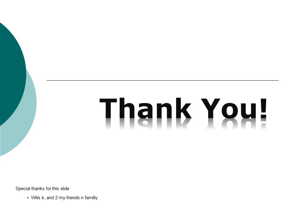 Special thanks for this slide