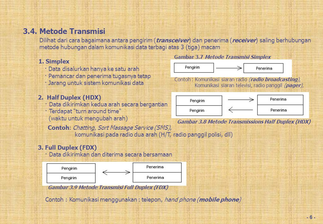 3.5. Karakteristik Transmisi, Terdapat dua macam arus :