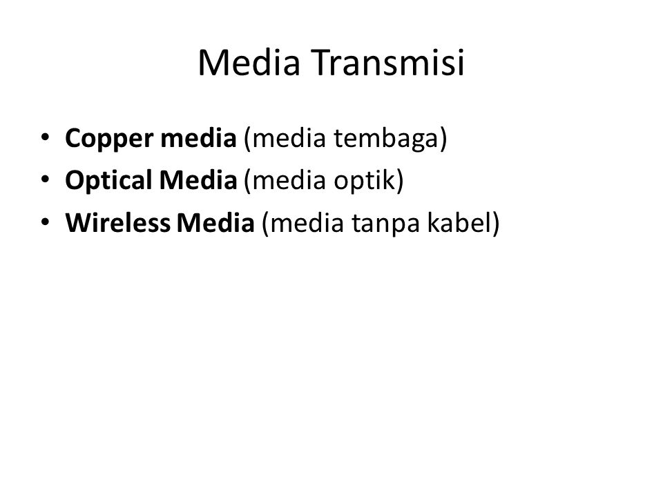 Media Transmisi Copper media (media tembaga)