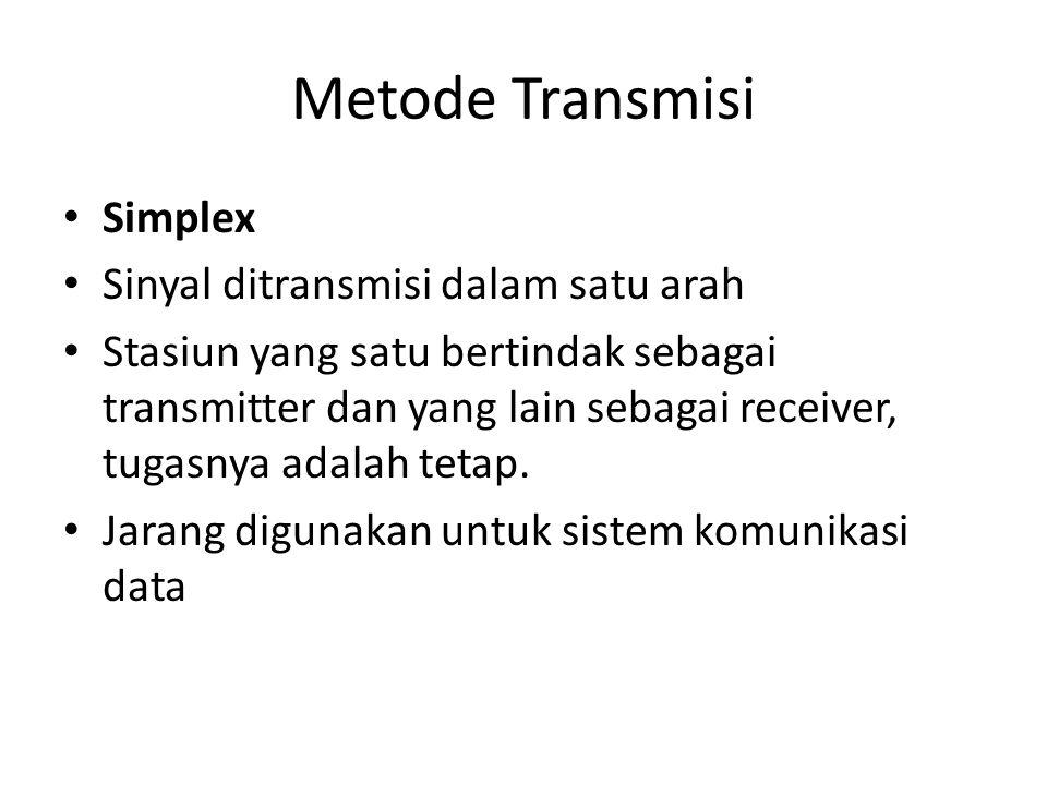 Metode Transmisi Simplex Sinyal ditransmisi dalam satu arah