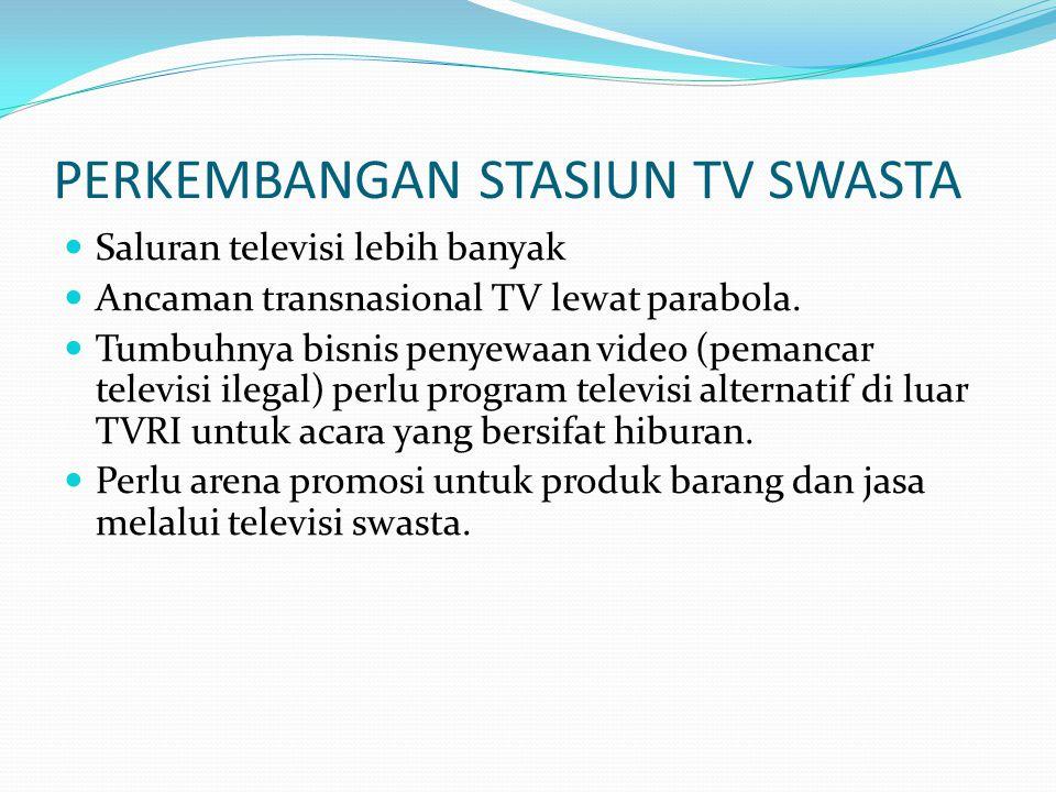 PERKEMBANGAN STASIUN TV SWASTA