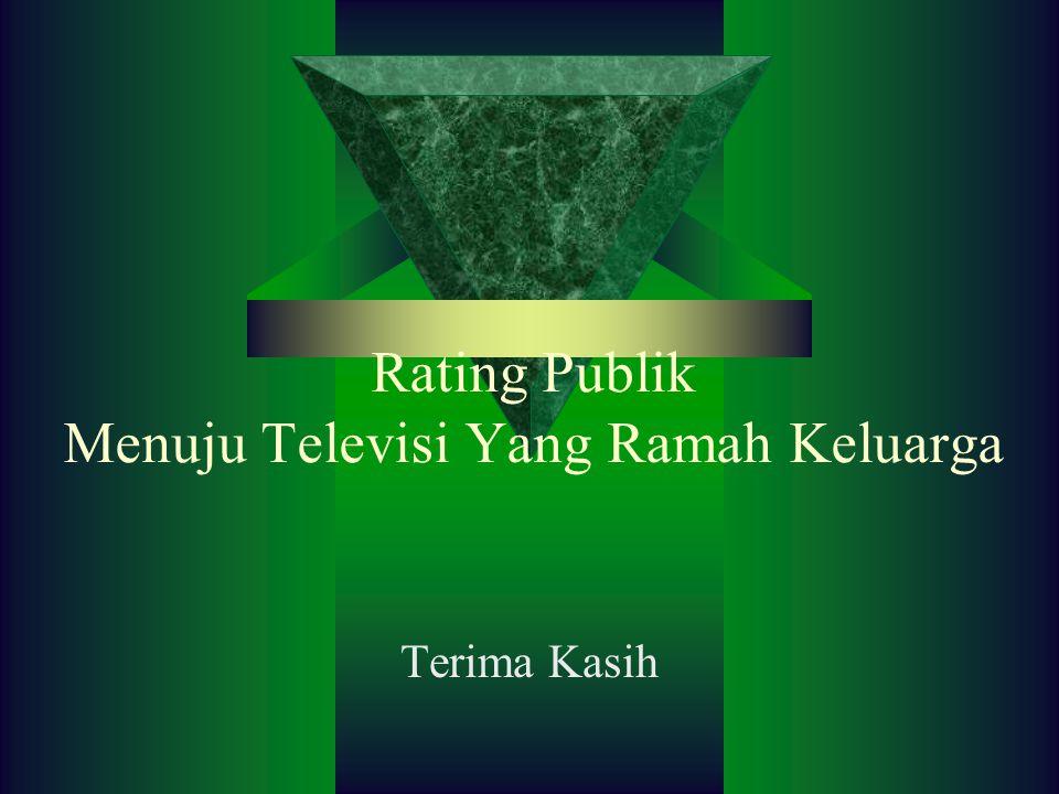 Rating Publik Menuju Televisi Yang Ramah Keluarga