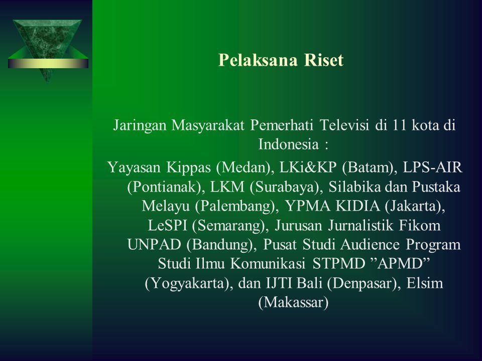 Jaringan Masyarakat Pemerhati Televisi di 11 kota di Indonesia :