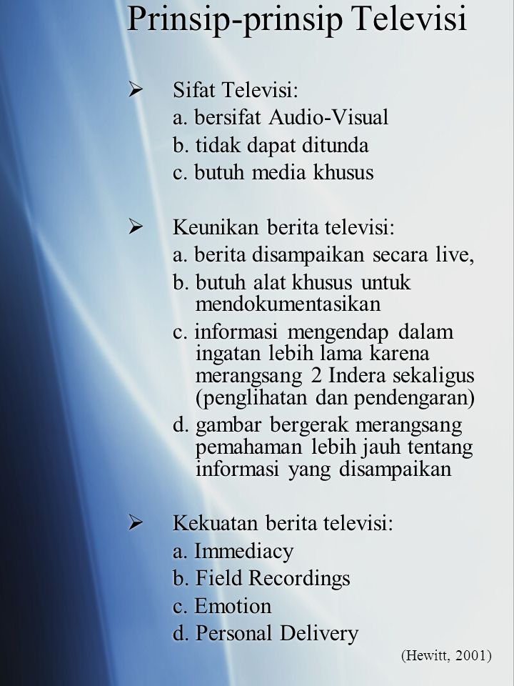 Prinsip-prinsip Televisi