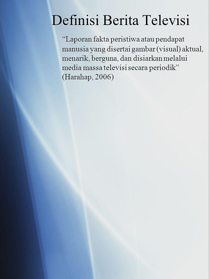 Definisi Berita Televisi