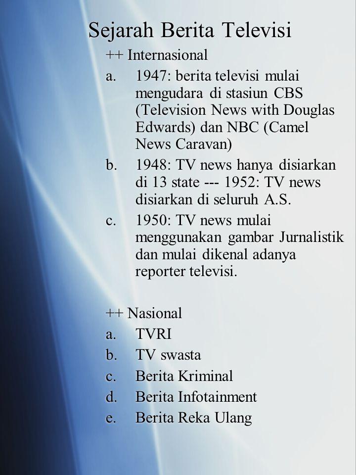 Sejarah Berita Televisi