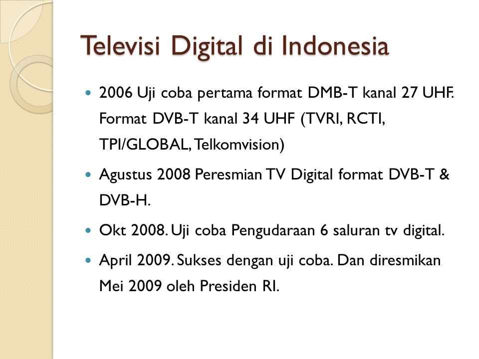 Televisi Digital di Indonesia