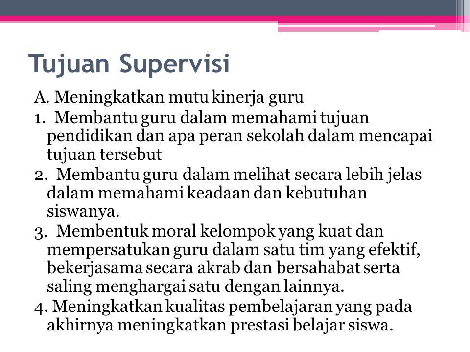 Tujuan Supervisi