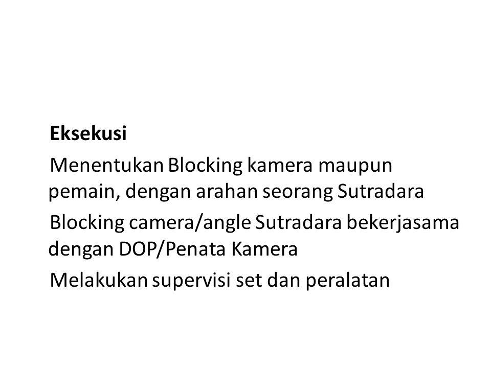 Eksekusi Menentukan Blocking kamera maupun pemain, dengan arahan seorang Sutradara.
