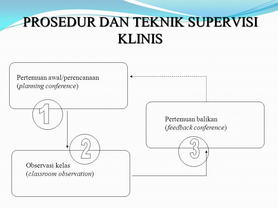 PROSEDUR DAN TEKNIK SUPERVISI KLINIS