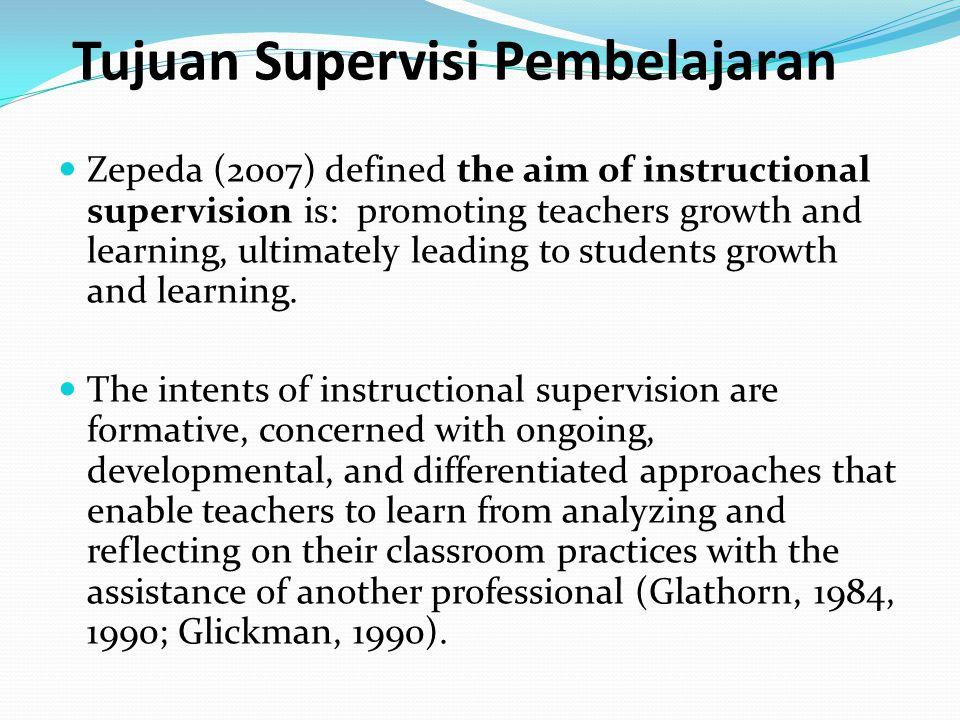 Tujuan Supervisi Pembelajaran
