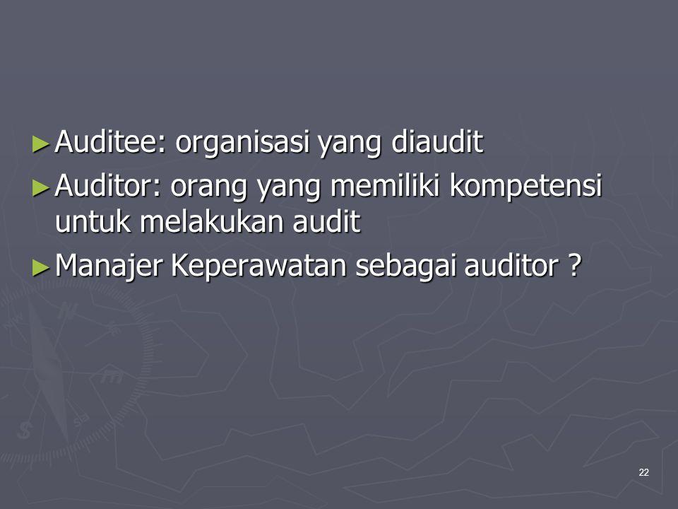 Auditee: organisasi yang diaudit